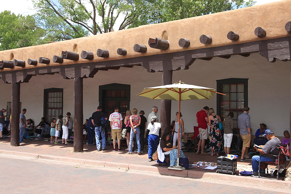 Native American vendors, Palace of the Governors, Santa Fe, New Mexico, United States of America, North America