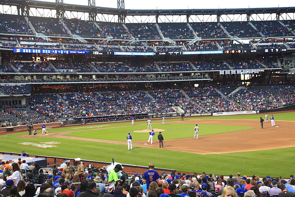 Baseball Game, Citi Field Stadium, Home of the New York Mets, Queens, New York City, United States of America, North America