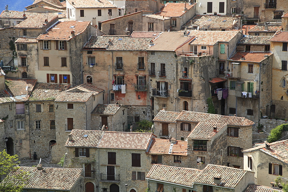 Perched medieval village of Peille, Alpes-Maritimes, Cote d'Azur, French Riviera, Provence, France, Europe