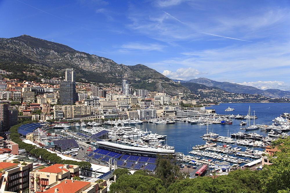 Port Hercules, Harbor, Monte Carlo, Monaco, Cote d'Azur, Mediterranean, Europe