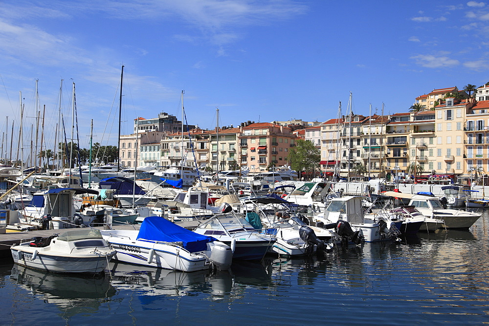 Harbor, Le Suquet, Old Town, Cannes, Alpes Maritimes, Cote d'Azur, Provence, French Riviera, France, Europe