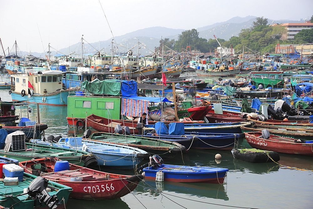 Cheung Chau Island, Harbor, Fishing Boats, Hong Kong, China, Asia