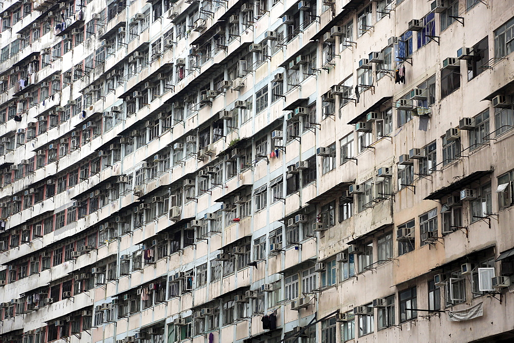 Densely populated housing estate, apartment building, Quarry Bay, Hong Kong Island, Hong Kong, China, Asia