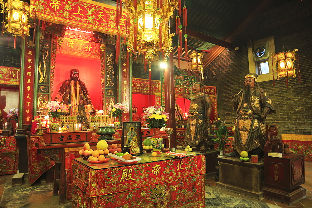 Pak Tai Temple, built in 1863, Wan Chai, Hong Kong Island, Hong Kong, China, Asia