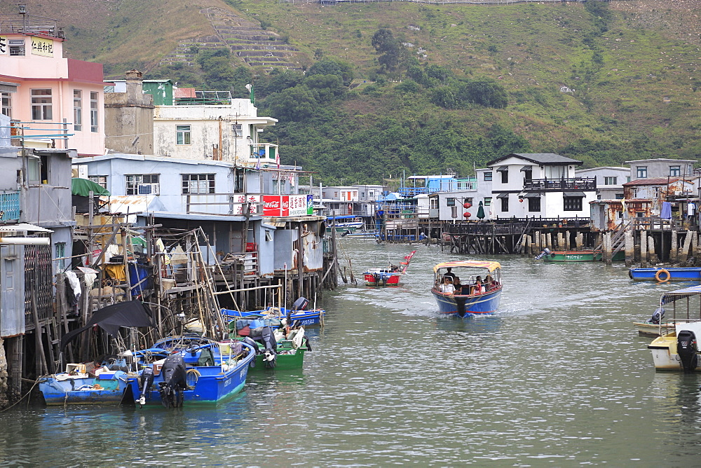 Stilt Houses, Canal, Tai O Fishing Village, Lantau Island, Hong Kong, China, Asia