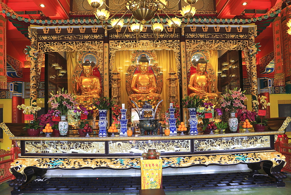 The Main Shrine Hall of Buddha, Po Lin Monastery, Hong Kong, China, Asia