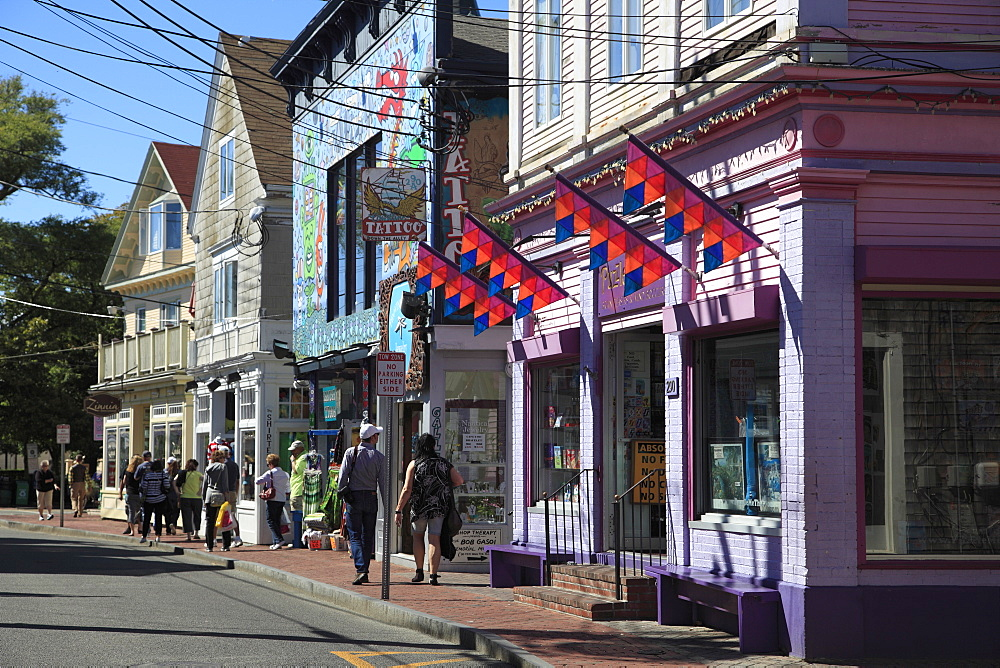 Commercial Street, Provincetown, Cape Cod, Massachusetts, New England, USA