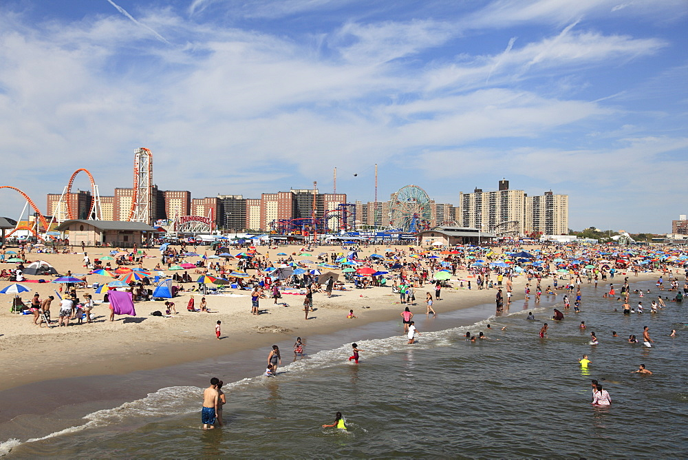 Beach, Coney Island, Brooklyn, New York City, New York, United States of America