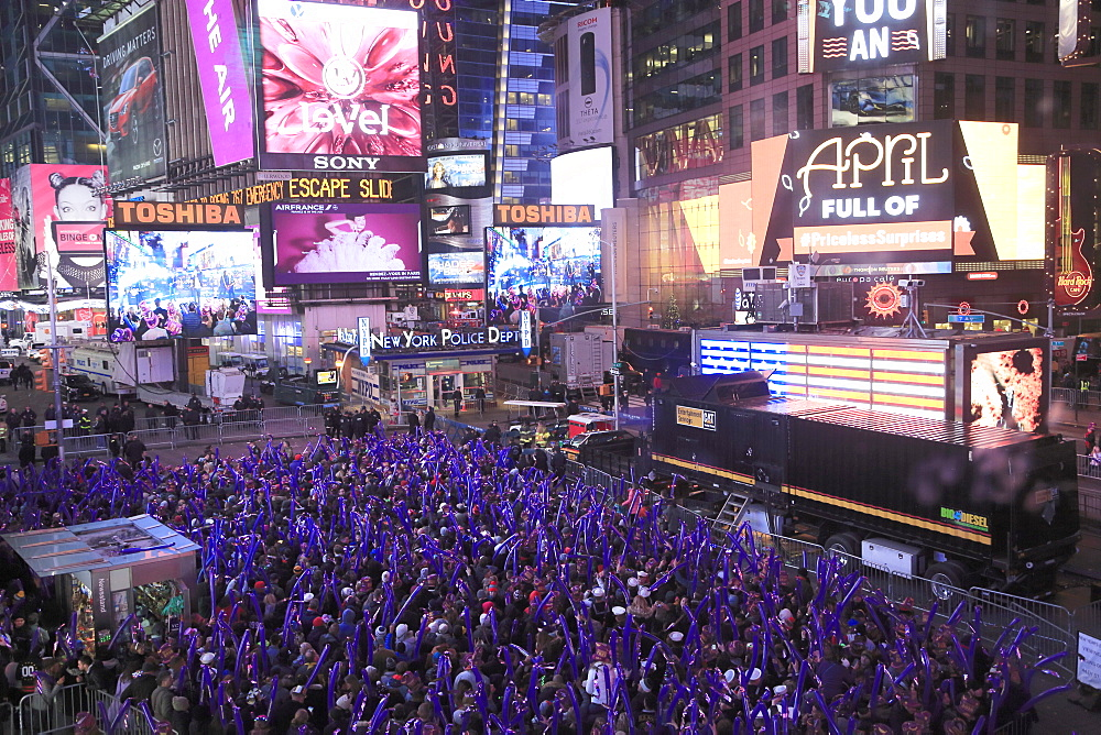 Revelers, Crowds, New Year's Eve, Times Square, Manhattan, New York City, New York, United States of America
