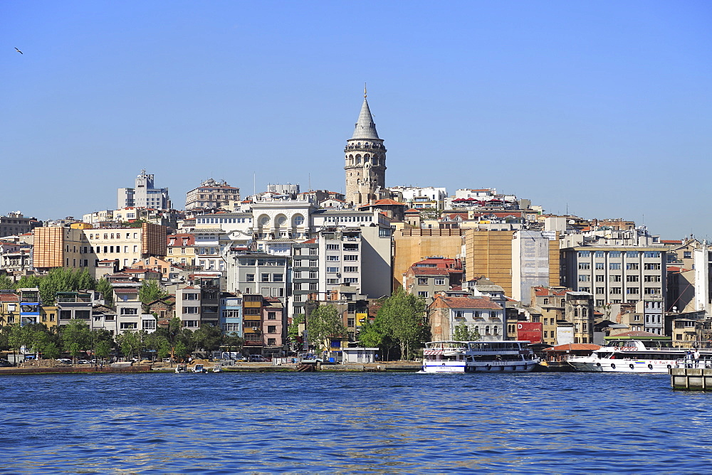 Galata Tower, Golden Horn, Beyoglu District, Istanbul, Turkey, Europe