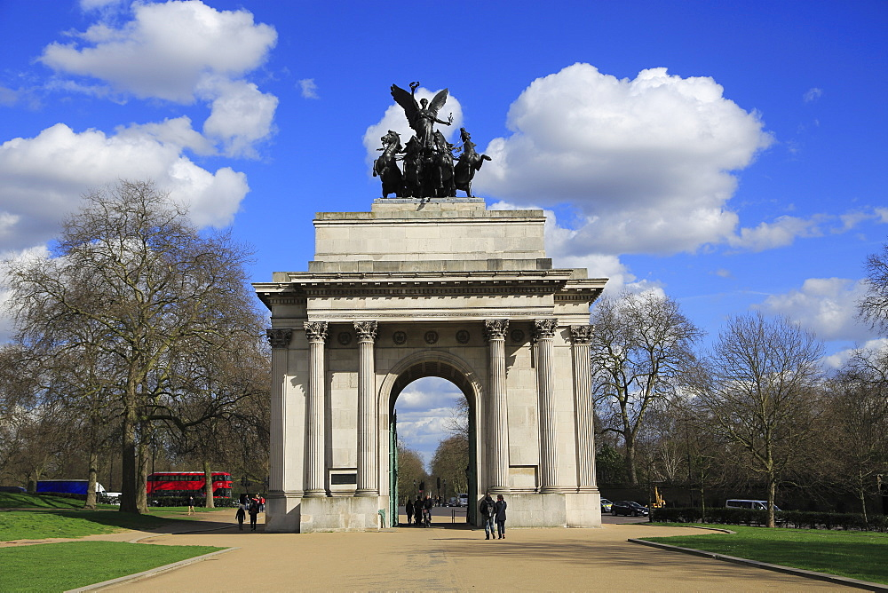 Wellington Arch (Constitution Arch), Hyde Park Corner, London, England, United Kingdom, Europe