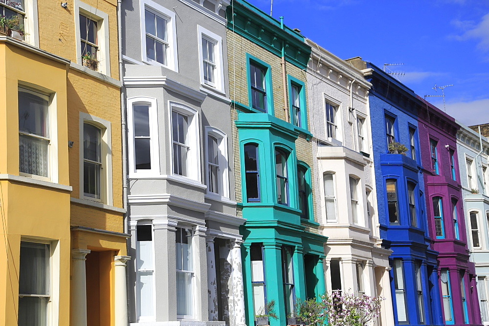 Colorful Houses, Architecture, Notting Hill, London, England, United Kingdom