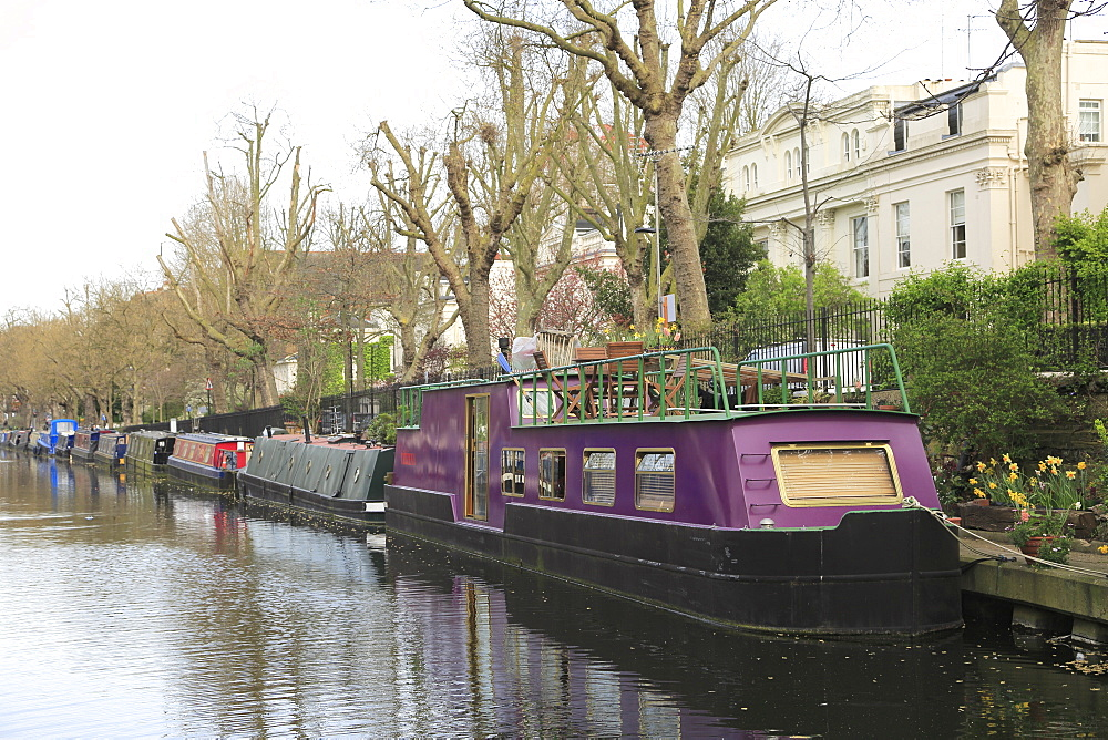 House Boats, Little Venice, Regent???s Canal, London, England, United Kingdom - 807-1922