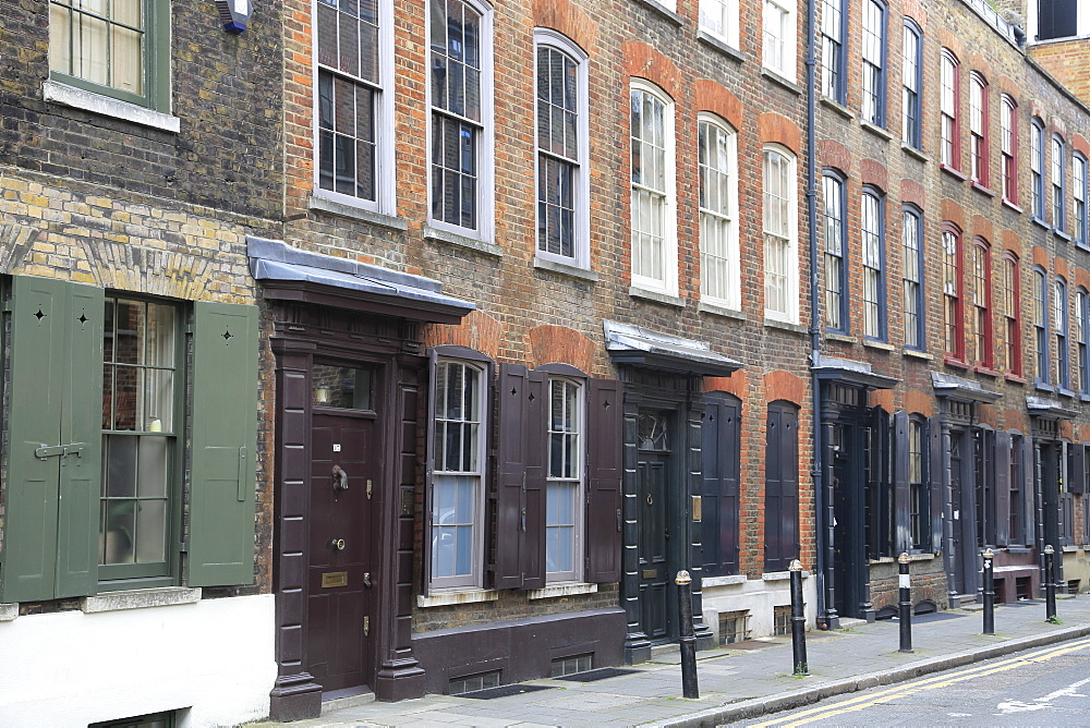 18th Century, Historic Huguenot Houses, Spitalfields, East End, London, England, United Kingdom