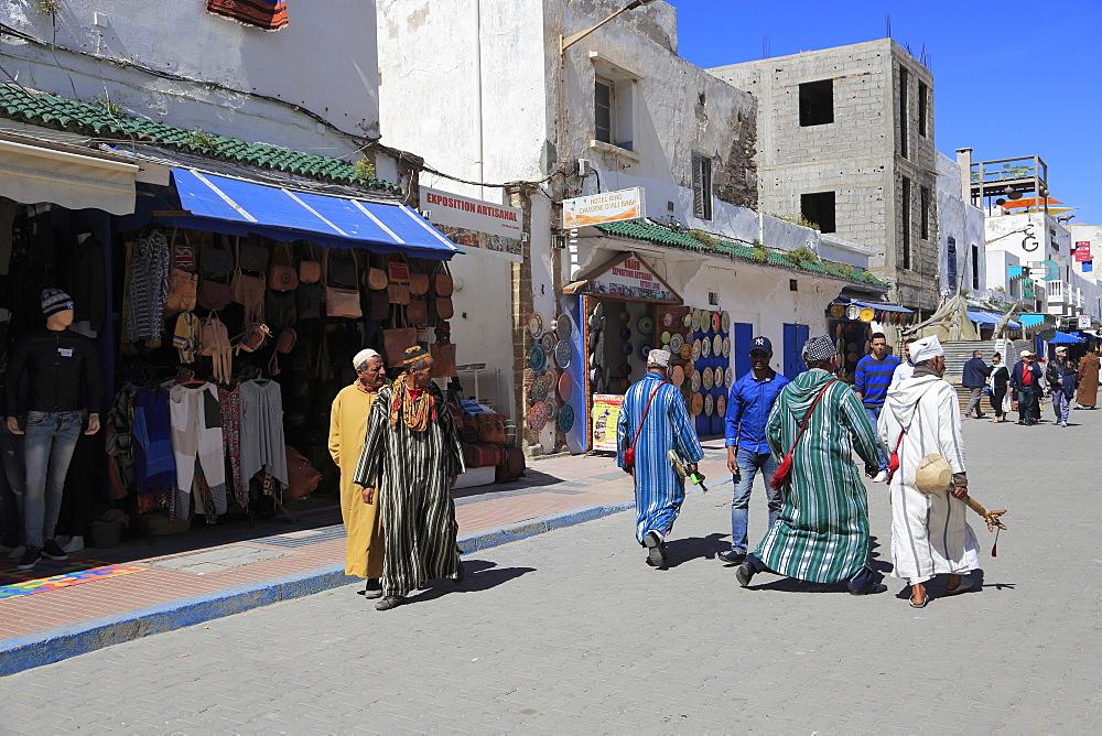 Street Scene, Medina, UNESCO World Heritage Site, Essaouira, Morocco, North Africa