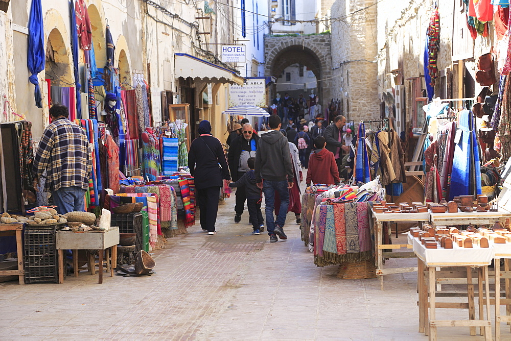 Artisans Market below Ramparts, Medina, UNESCO World Heritage Site, Essaouira, Morocco, North Africa, Africa