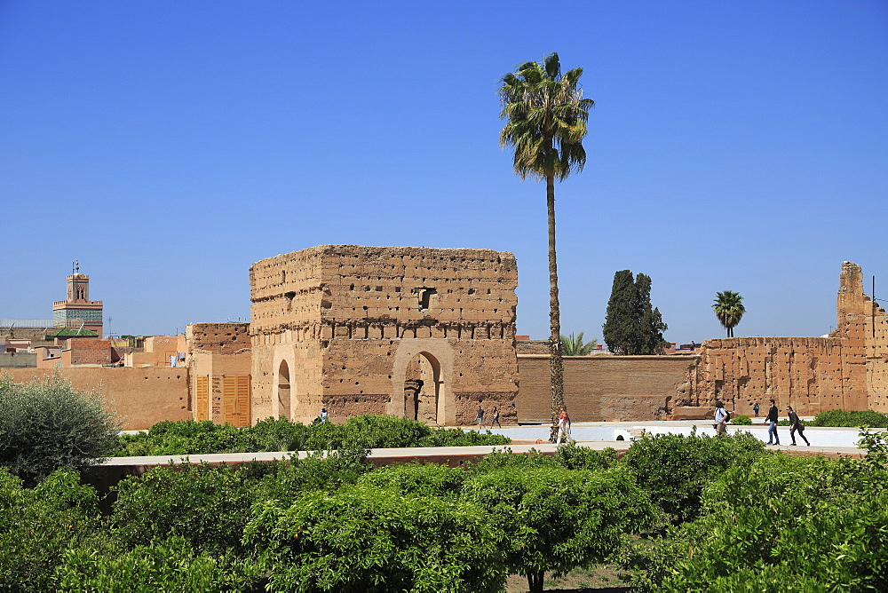 El Badi Palace (Badii Palace) (Badia Palace), The Incomparable Palace, 16th century, Marrakesh (Marrakech), Morocco, North Africa, Africa