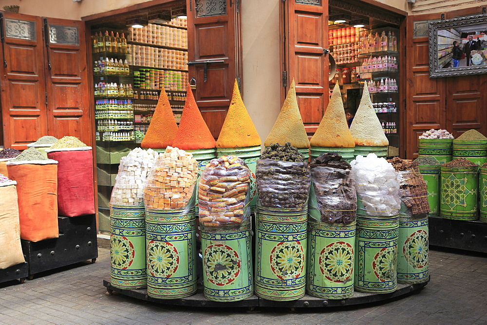 Spice Market, Souk, Mellah (Old Jewish Quarter), Marrakesh (Marrakech), Morocco, North Africa, Africa - 807-1963