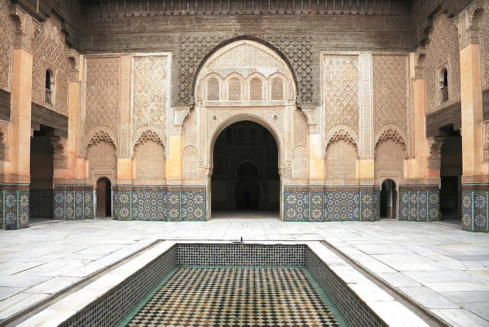 Medersa Ben Youssef, Madrasa, 16th century College, UNESCO World Heritage Site, Marrakesh (Marrakech), Morocco, North Africa, Africa
