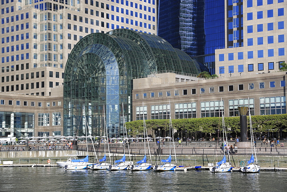 Winter Garden Atrium, World Financial Center Plaza, Brookfield Place, North Cove Marina, Manhattan, New York City, United States of America, North America