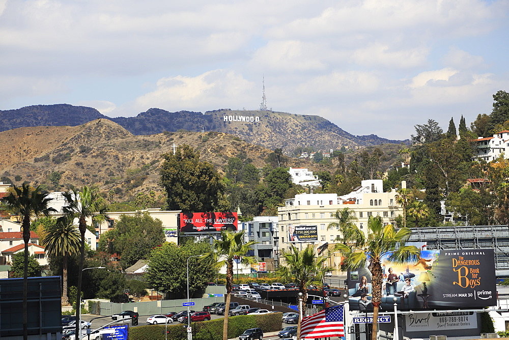 Hollywood Sign, Hills, Hollywood, Los Angeles, California, USA