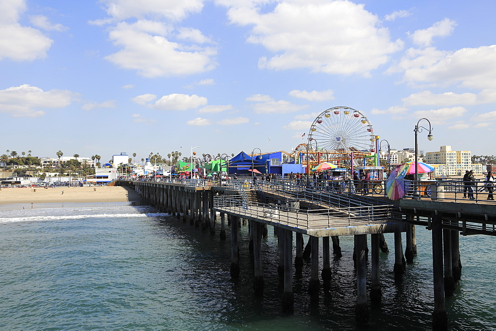 Santa Monica Pier, Pacific Park, Beach, Santa Monica, Los Angeles, California, United States of America, North America