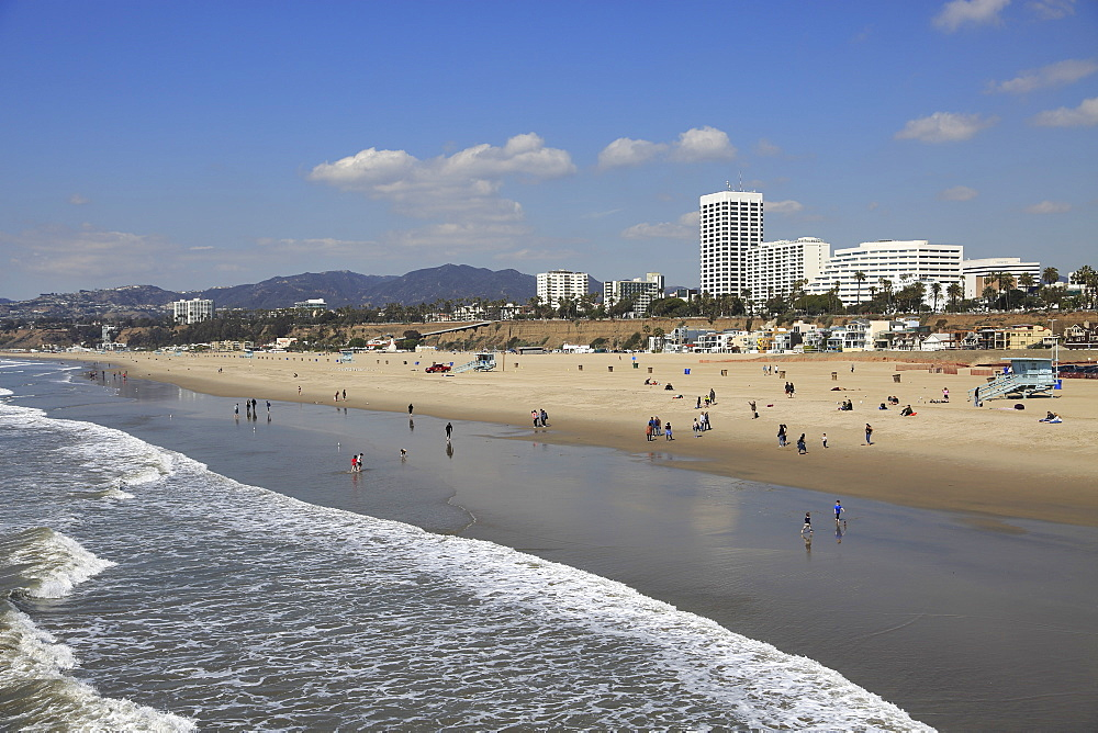 Beach, Santa Monica, Pacific Ocean, Los Angeles, California, USA