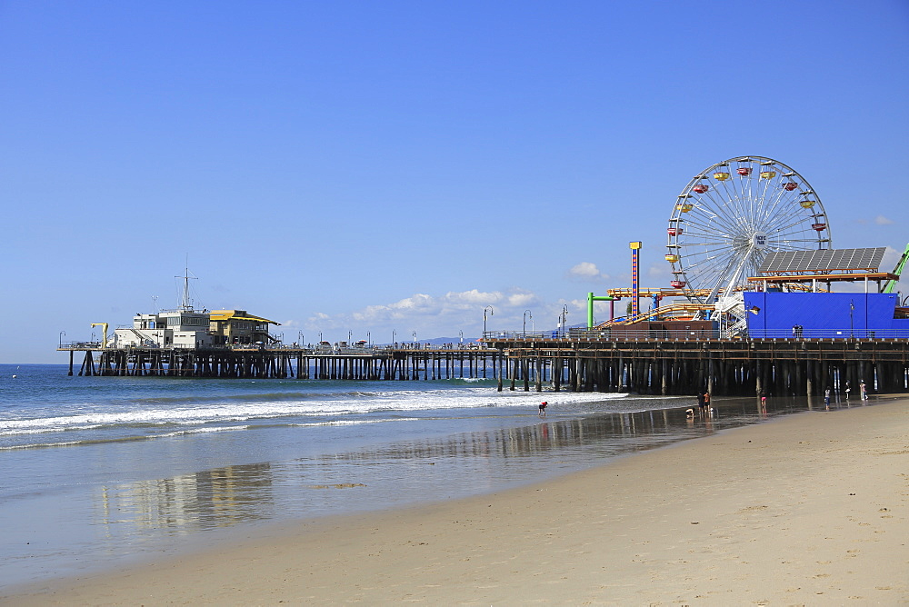 Santa Monica Pier, Pacific Park, Beach, Santa Monica, Los Angeles, California, United States of America, North America - 807-2020