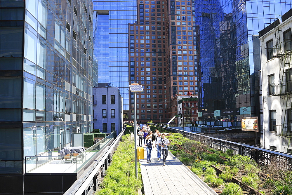 High Line Park, Manhattan, New York City, New York, United States of America