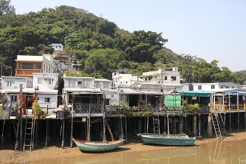 Stilt houses, Fishing village of Tai O, Lantau Island, Hong Kong, China, Asia
