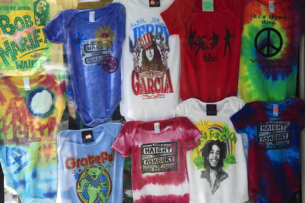 T-shirts, Haight Street, Haight Ashbury District, The Haight, San Francisco, California, United States of America, North America
