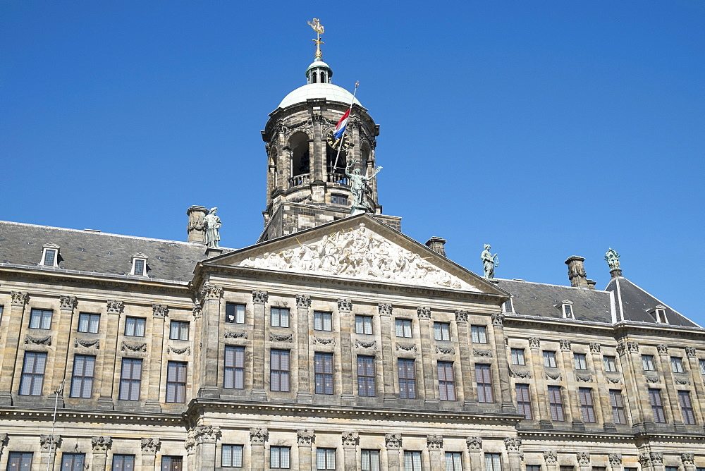 The Royal Palace, built in 1648, originally the Town Hall, Dam Square, Amsterdam, Netherlands, Europe