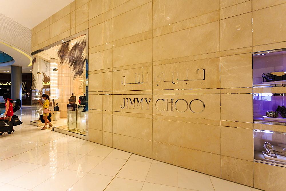 Jimmy Choo boutique, Dubai Mall, Dubai, United Arab Emirates, Middle East