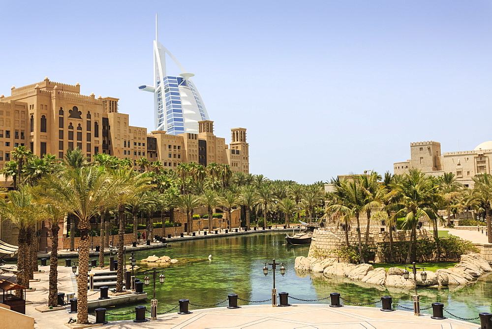 Madinat Jumeirah Hotel and Burj Al Arab, Dubai, United Arab Emirates, Middle East