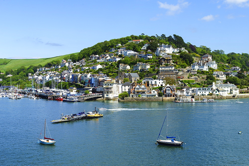 Kingswear and River Dart viewed from Dartmouth, Devon, England, United Kingdom, Europe - 808-1511