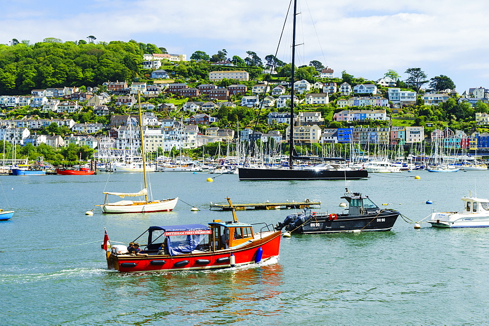 Kingswear and River Dart viewed from Dartmouth, Devon, England, United Kingdom, Europe - 808-1513
