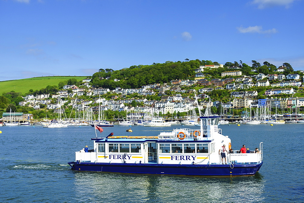 Kingswear and River Dart viewed from Dartmouth, Devon, England, United Kingdom, Europe - 808-1514