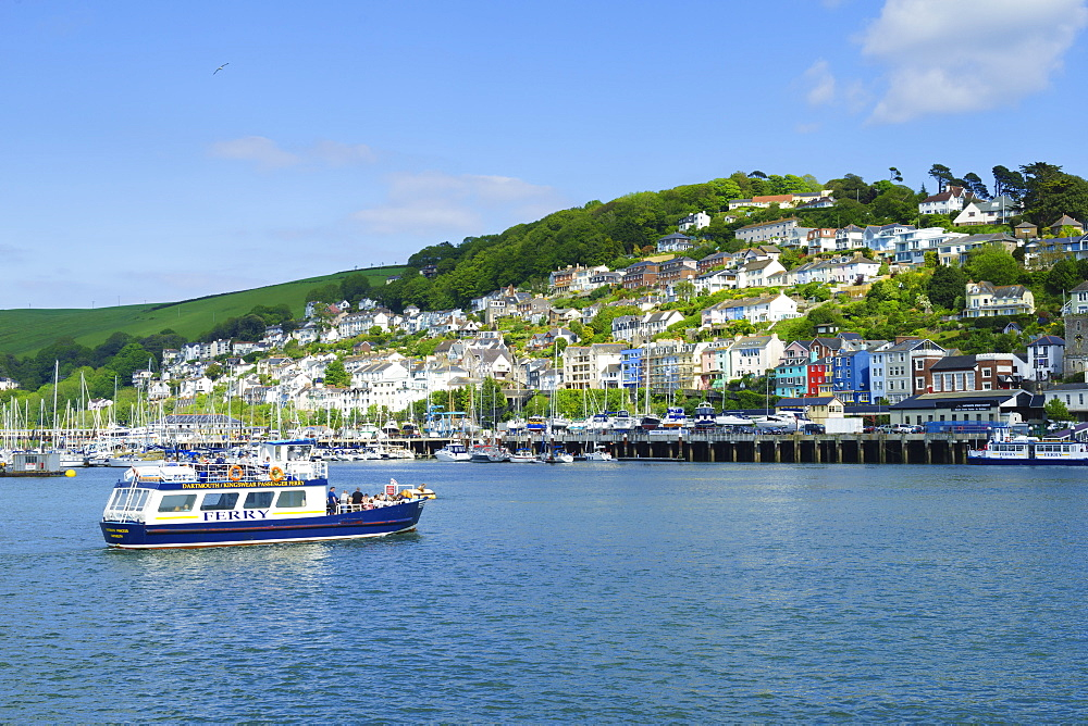 Kingswear and River Dart viewed from Dartmouth, Devon, England, United Kingdom, Europe - 808-1515