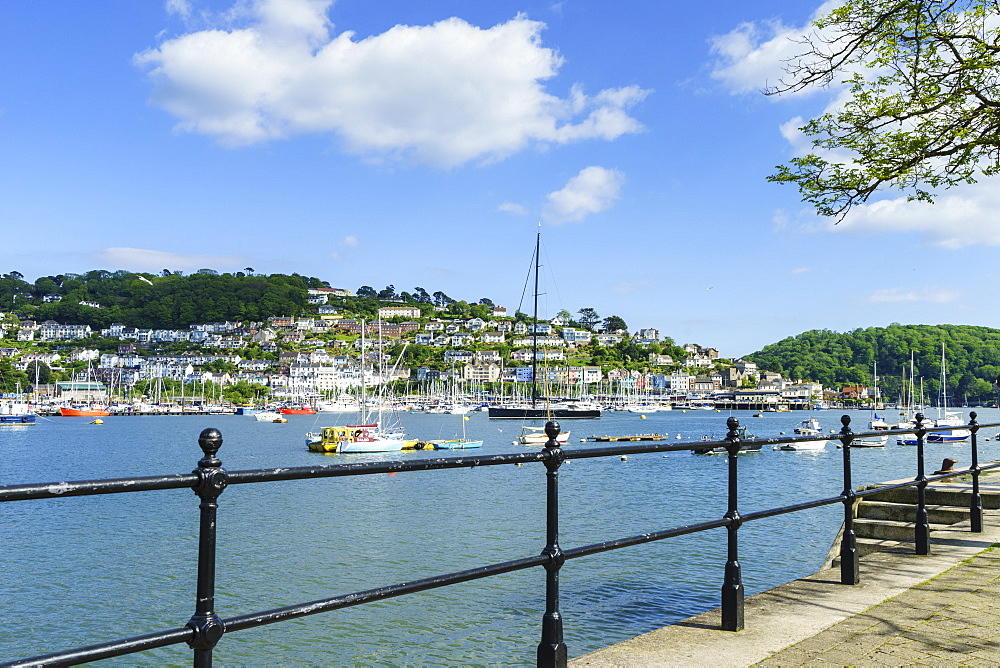 Kingswear and River Dart viewed from Dartmouth, Devon, England, United Kingdom, Europe - 808-1516