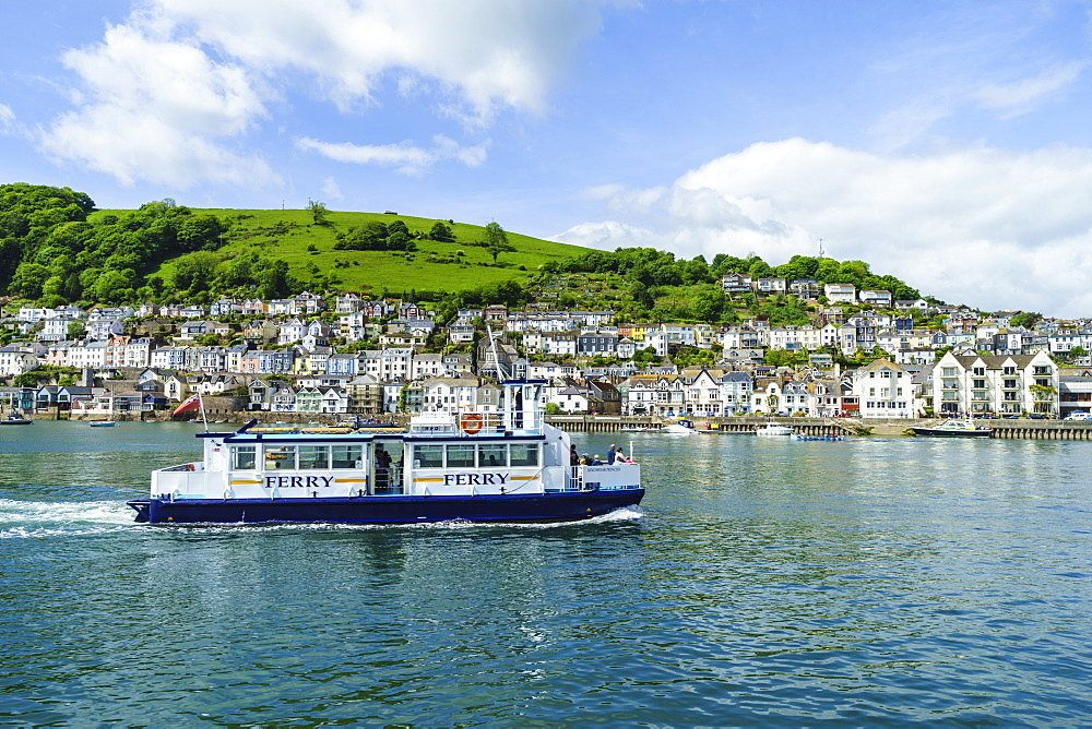 Kingswear and River Dart viewed from Dartmouth, Devon, England, United Kingdom, Europe - 808-1526