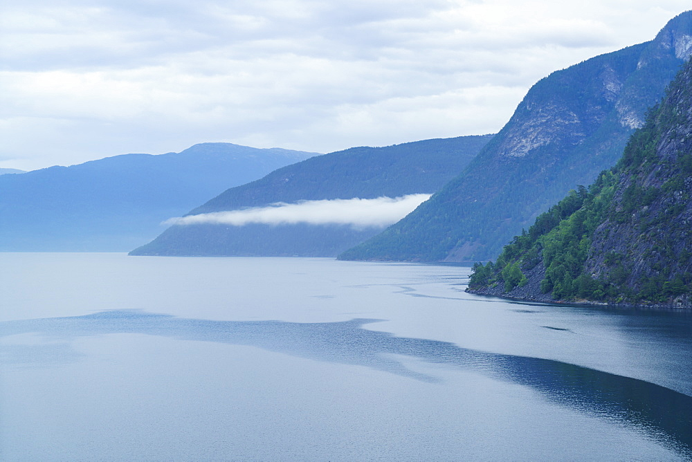 Aurlandsfjord, a branch of Sognefjord near the small town of Flam, Norway, Scandinavia, Europe - 808-1553