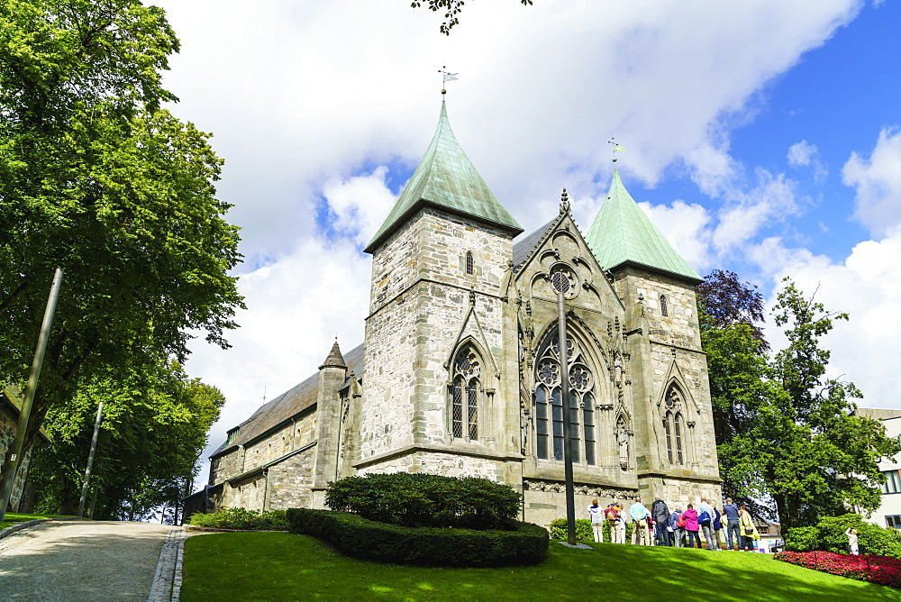 Stavanger Cathedral, Norway's oldest cathedral dating from 1125, Stavanger, Norway, Scandinavia, Europe - 808-1586
