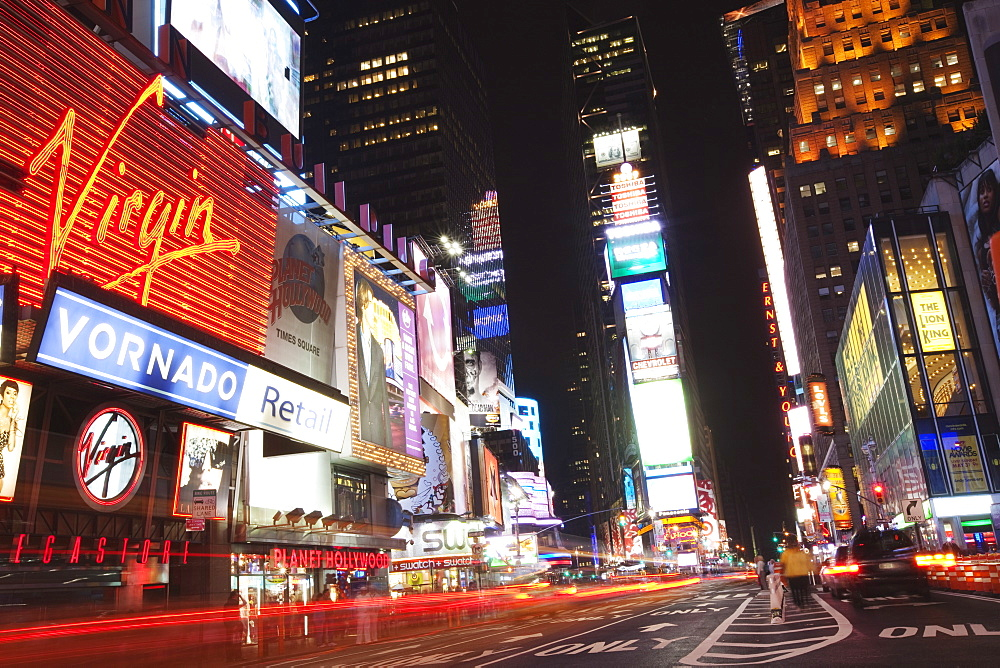 Times Square at night, Midtown, Manhattan, New York City, New York, United States of America, North America