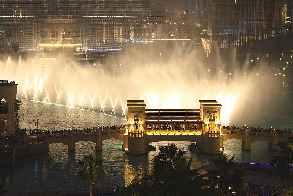 Dubai Fountain, Burj Khalifa Lake, Downtown, Dubai, United Arab Emirates, Middle East