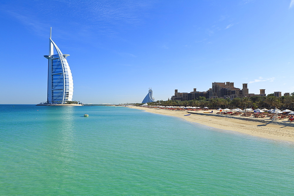 Burj Al Arab Hotel, Jumeirah Beach, Dubai, United Arab Emirates, Middle East