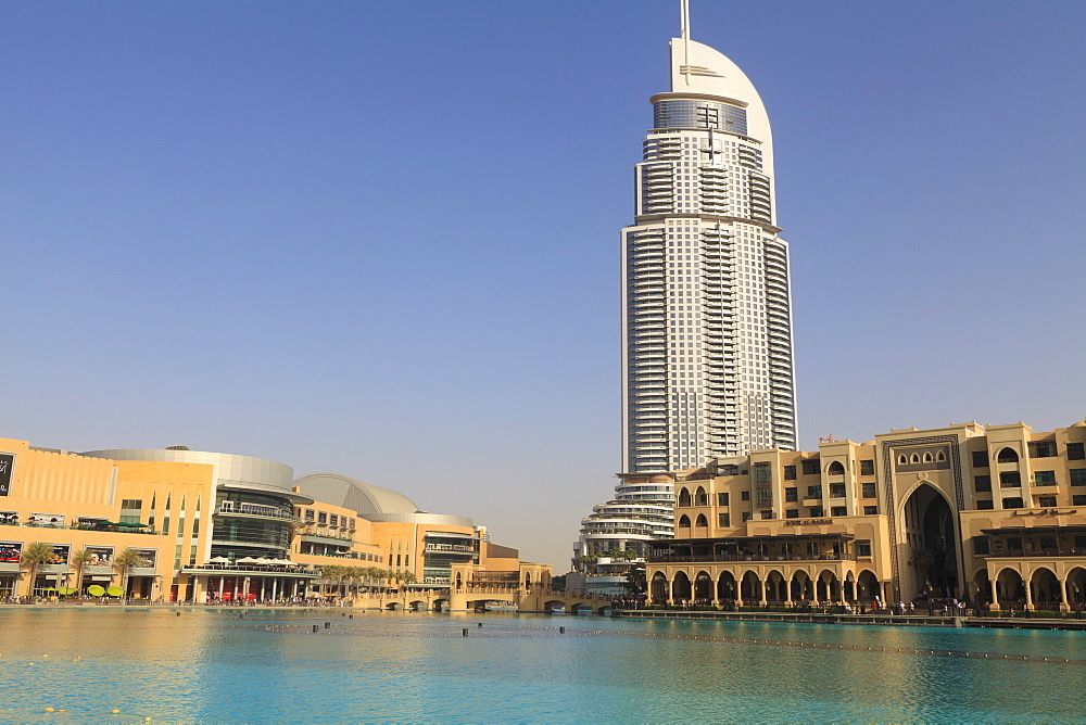 Downtown district with the Dubai Mall, The Address building and Palace Hotel, Dubai, United Arab Emirates, Middle East