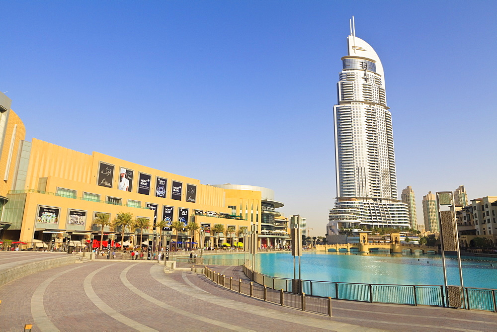 The Dubai Mall and Address Building, Downtown district, Dubai, United Arab Emirates, Middle East