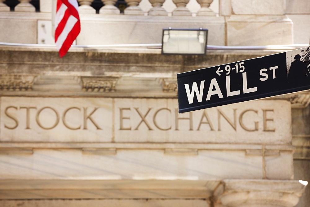The New York Stock Exchange, Wall Street, Manhattan, New York City, New York, United States of America, North America - 808-85