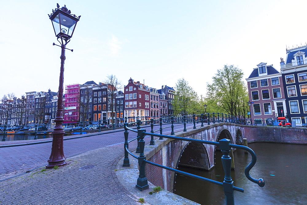 Bridge on Keizersgracht canal, Amsterdam, Netherlands, Europe