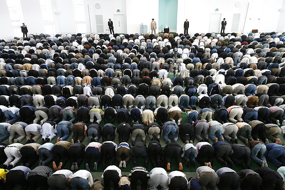 Friday prayer at Baitul Futuh mosque, London, England, United Kingdom, Europe